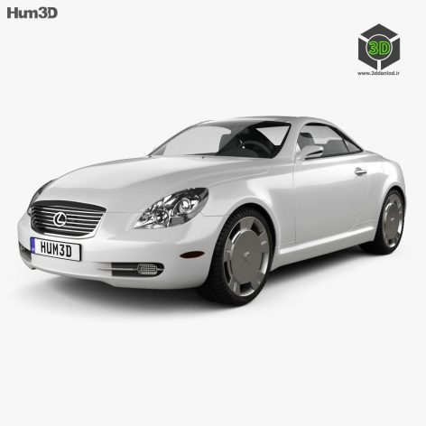 Lexus SC (Z40) 2007 3D Model(3ddanlod.ir)