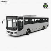 MAN Lion's Intercity Bus with HQ interior 2015 3D model(3ddanlod.ir)