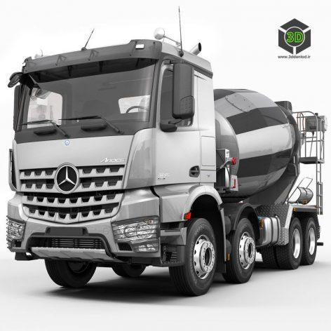 Mercedes Arocs Mixer 3D Model (2)(3ddanlod.ir)