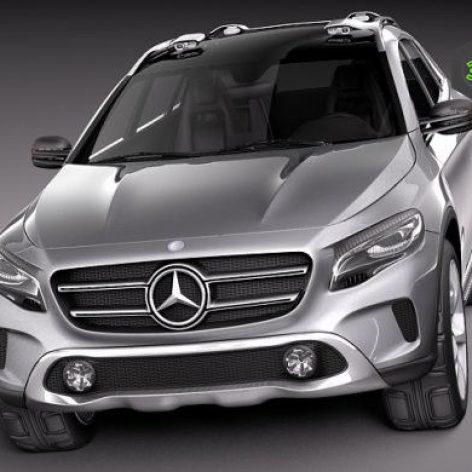 Mercedes Benz GLA Concept 2013 3D Model(3ddanlod.ir)