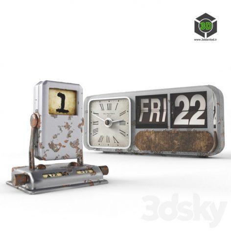 Old Calendars with Clock 092 (3ddanlod.ir)