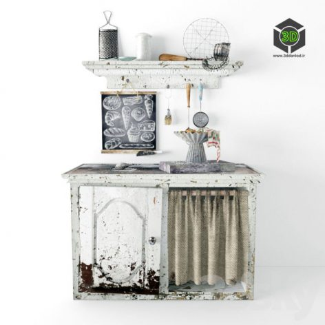 Old Kitchen Table 154 (3ddanlod.ir)