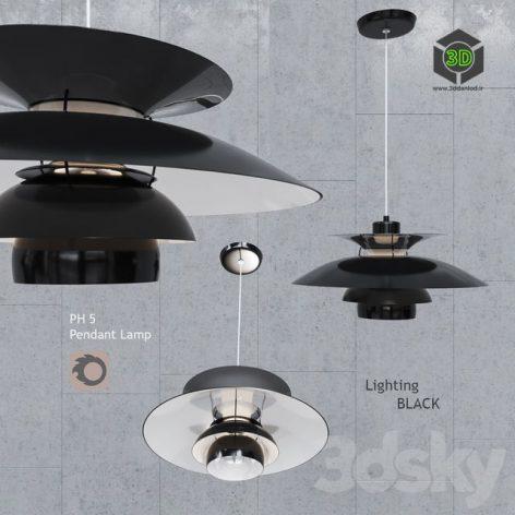 Pendant Lamp Louis Poulsen PH5 Black(3ddanlod.ir) 1011