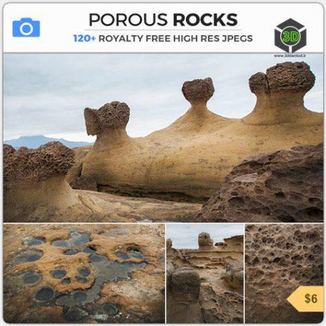 Photobash - Porous Rocks cover (3ddanlod.ir)