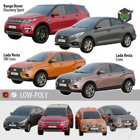 Set of Low Poly Cars 1(3ddanlod.ir) 1130