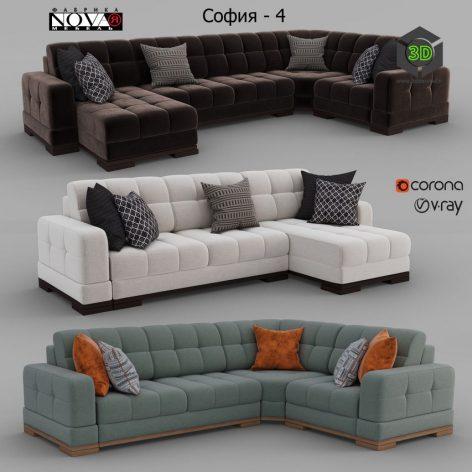 Sofas Sofia 4 Factory NOVAYA Furniture(3ddanlod.ir) 1660