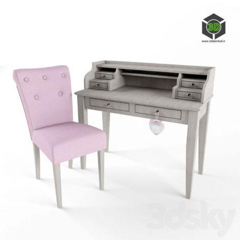 Soft Chair Cambridge and Desk Sebastien 129 (3ddanlod.ir)