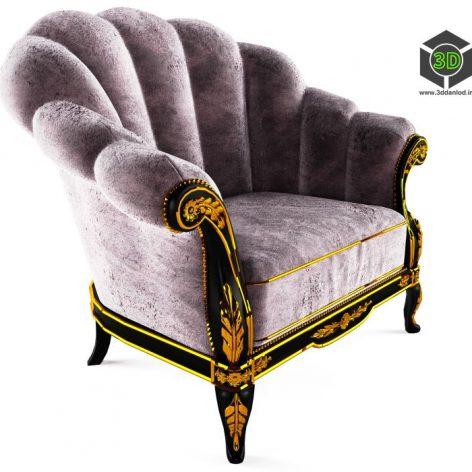 دانلود آبجکت صندلی کلاسیک 1368
