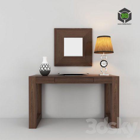 modern wooden console 163 (3ddanlod.ir)