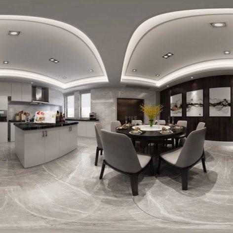 360 Interior Design 2019 Kitchen Room I196 panorama (3ddanlod.ir) 019