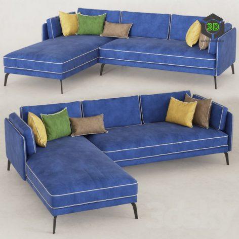 Blue Sofa (OM) 058 (3ddanlod.ir)