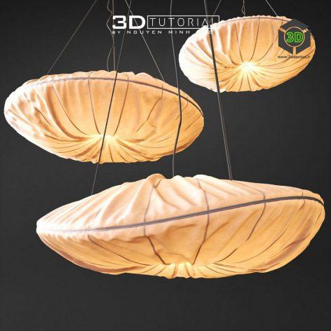 Fabric Pendant Lamp modelbyNguyenMinhKhoa(3ddanlod.ir)