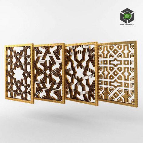 Iranian 3D Style Decor 002 side view (3ddanlod.ir)