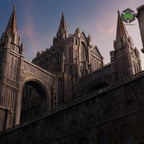 Kitbash3D-Gothic 008 cover (3ddanlod.ir)
