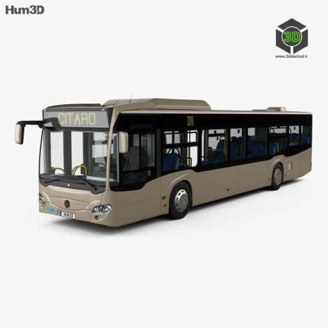 Mercedes-Benz Citaro O530 Bus with HQ interior 2011 3D Model side view (3ddanlod.ir)