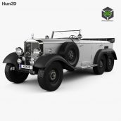 Mercedes-Benz G4 Offroader 1939 3D model(3ddanlod.ir)