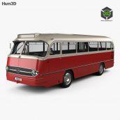 Mercedes-Benz O 321 H Bus 1954 3D model(3ddanlod.ir)