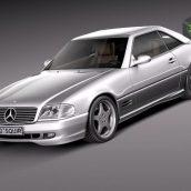 Mercedes SL500 AMG- r129 1989 – 2001 3D Model (2)(3ddanlod.ir)