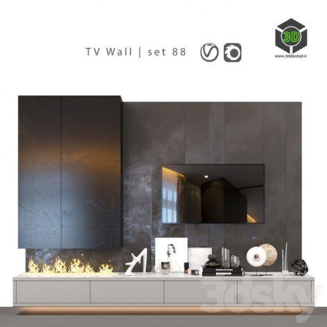 TV Wall Set 88(3ddanlod.ir) 1409