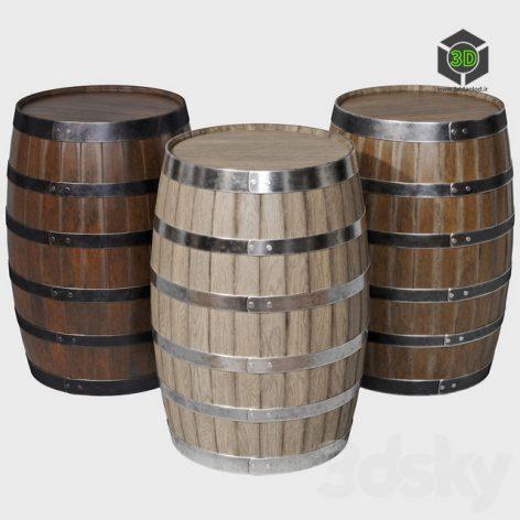 Wooden Barrels(3ddanlod.ir) 595