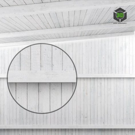 Wooden Ceiling With Beams(3ddanlod.ir) 1901