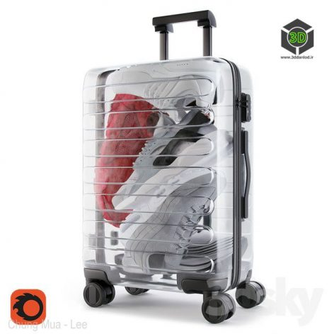 Xiaomi 90 Points Supreme Transparent Suitcase(3ddanlod.ir) 791