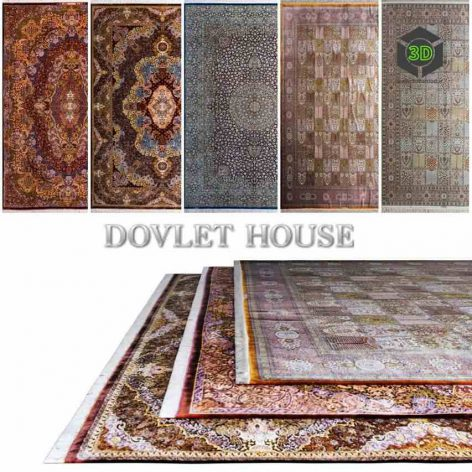 Ковры DOVLET HOUSE 5 штук (part 156) 015 (3ddanlod.ir)