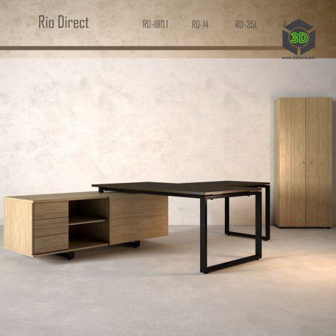 Мебель для руководителя Rio Direct 256 (3ddanlod.ir)