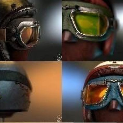 Helmet and Glasses – 3D Model (3ddanlod.ir)