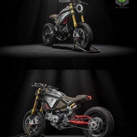 Hi-poly ZeusCustom Ducati Scrambler 3D Model (3ddanlod.ir)