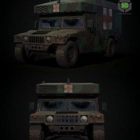 Humvee Ambulance – 3D Model (3ddanlod.ir)