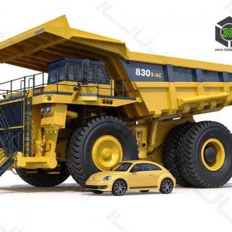 Mining dump truck Komatsu 830E-AC(3ddanlod.ir)