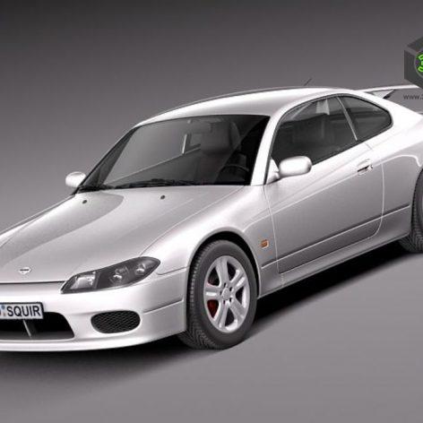 Nissan 240 sx Silvia S15 1999-2002 3d Model(3ddanlod.ir)