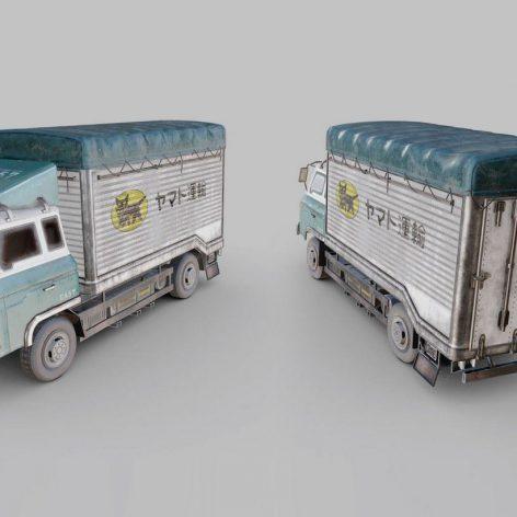 Nissan Diesel Condor Cargo Truck 3D Model (2)(3ddanlod.ir)