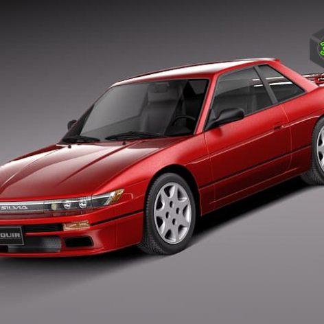 Nissan Silvia K S13 1989–1994 3d Model (3)(3ddanlod.ir)