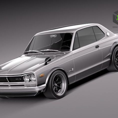Nissan Skyline 1968-1972 3D Model (2)(3ddanlod.ir)