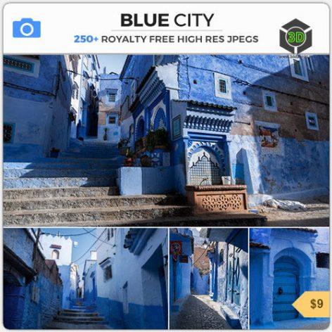 Photobash - Blue City 007 cover (3ddanlod.ir)