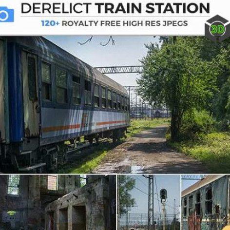 Photobash - Derelict Train Station 009 cover (3ddanlod.ir)